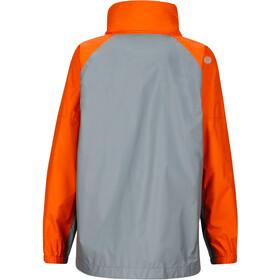 Marmot Kids PreCip Jacket Grey Storm/Bright Orange